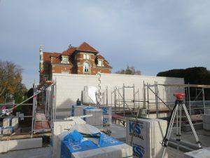 Mauerwerksarbeiten im Neubau OG 2
