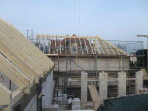 Dachstuhl Haus 3 und 4