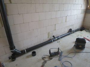 Installation Schmutzwasserleitung