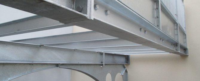 Balkonaufbau