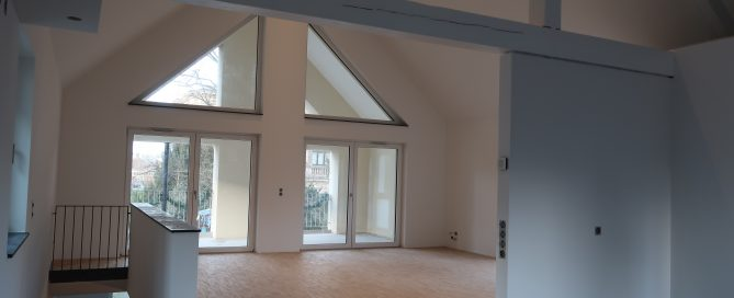 Haus 4 - Blick Wohnraum/Loggia